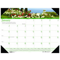 House of Doolittle 174 22 inch x 17 inch Recycled Gardens of the World Monthly January 2020 - December 2020 Desk Pad Calendar