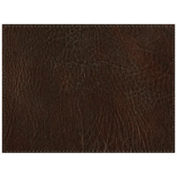 H. Risch Inc. Harley 12 inch x 16 inch Brown Premium Sewn Rectangle Placemat