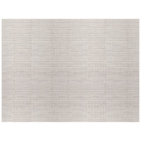 H. Risch, Inc. 12 inch x 16 inch Silver Vinyl Rectangle Placemat - 12/Pack