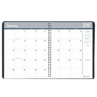 House of Doolittle 26292 8 1/2 inch x 11 inch Recycled Black Ruled One-Year Monthly January 2018 - December 2018 Appointment Book