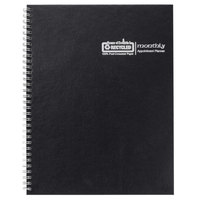 House of Doolittle 26292 8 1/2 inch x 11 inch Recycled Black Ruled One-Year Monthly January 2020 - December 2020 Appointment Book