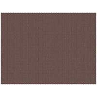 H. Risch, Inc. 12 inch x 16 inch Light Brown Vinyl Rectangle Placemat - 12/Pack