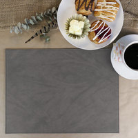 H. Risch Inc. Harley 12 inch x 16 inch Charcoal Premium Sewn Rectangle Placemat