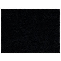 H. Risch Inc. Chesterfield 12 inch x 16 inch Black Premium Sewn Rectangle Placemat
