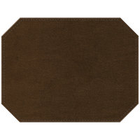 H. Risch Inc. PLACEMATDXOCT-IRICOPPER Iridescent 16 inch x 12 inch Copper Premium Sewn Faux Leather Octagon Placemat