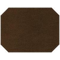 H. Risch Inc. Iridescent 12 inch x 16 inch Copper Premium Sewn Octagon Placemat