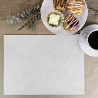 H. Risch Inc. Harley 12 inch x 16 inch White Premium Sewn Rectangle Placemat
