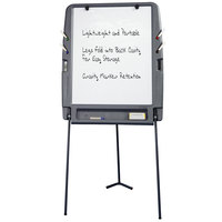 Iceberg 30227 35 inch x 30 inch Charcoal Portable Flipchart Easel with Dry Erase Surface