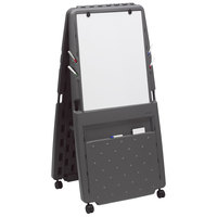 Iceberg 30237 33 inch x 28 inch Charcoal Presentation Flipchart Easel with Dry Erase Surface