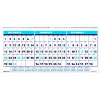 House of Doolittle 3648 23 1/2 inch x 12 inch Recycled Blue / White Monthly December 2019 - January 2021 Horizontal Wall Calendar