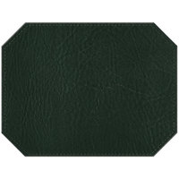 H. Risch, Inc. PLACEMATDXOCT-HARGREEN Harley 16 inch x 12 inch Customizable Green Premium Sewn Faux Leather Octagon Placemat