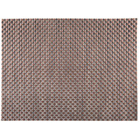 H. Risch, Inc. 12 inch x 16 inch Bronze / Brown Vinyl Rectangle Placemat - 12/Pack
