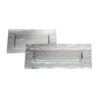 Service Ideas Tuscany Glass Eco-Line 9507 9 7/8 inch x 6 inch Clear Rectangular Plate with Green Tint 6/Case