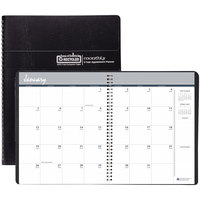 House of Doolittle 262002 8 1/2 inch x 11 inch Recycled Black Ruled 24-Month Monthly January 2020 - December 2021 Appointment Book