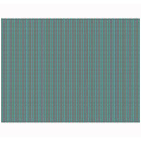 H. Risch, Inc. 12 inch x 16 inch Teal / Brown Vinyl Rectangle Placemat - 12/Pack