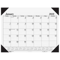 House of Doolittle 124 22 inch x 17 inch Recycled White Monthly January 2019 - December 2019 Desk Pad Calendar