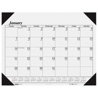 House of Doolittle 124 22 inch x 17 inch Recycled White Monthly January 2020 - December 2020 Desk Pad Calendar