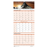 House of Doolittle 3638 12 1/4 inch x 26 inch Recycled Scenic Monthly December 2018 - January 2020 Compact Wall Calendar