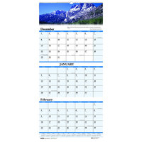 House of Doolittle 3638 12 1/4 inch x 26 inch Recycled Scenic Monthly December 2019 - January 2021 Compact Wall Calendar