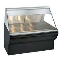 Alto-Shaam EC2SYS-48 BK Black Heated Display Case with Angled Glass and Base - Full Service 48 inch