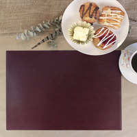 H. Risch Inc. 12 inch x 16 inch Wine Vinyl Rectangle Placemat