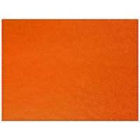 H. Risch Inc. Rio 12 inch x 16 inch Orange Premium Sewn Rectangle Placemat