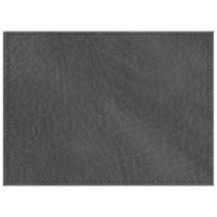 H. Risch, Inc. 11 inch x 15 inch Charcoal Hardboard / Faux Leather Rectangle Placemat
