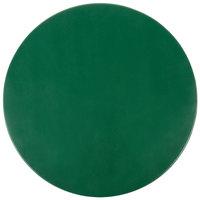 H. Risch Inc. 15 inch Green Vinyl Round Placemat