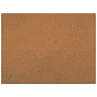 H. Risch Inc. Sedona Distressed 12 inch x 16 inch English Tan Premium Sewn Rectangle Placemat