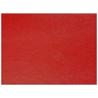 H. Risch Inc. Rio 12 inch x 16 inch Red Premium Sewn Rectangle Placemat