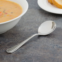 Walco 9612 Ultra 6 inch 18/10 Stainless Steel Extra Heavy Weight Bouillon Spoon   - 24/Case
