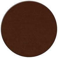 H. Risch Inc. 13 inch Brown Vinyl Round Placemat