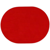 H. Risch Inc. 13 inch x 17 inch Red Vinyl Oval Placemat