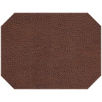 H. Risch Inc. Sedona Saddle 12 inch x 16 inch Cocoa Premium Sewn Octagon Placemat