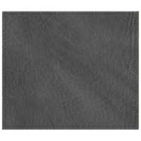 H. Risch, Inc. 13 inch x 15 inch Charcoal Hardboard / Faux Leather Rectangle Placemat