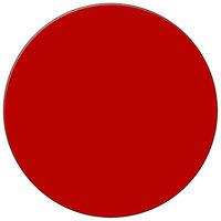 H. Risch Inc. 15 inch Red Vinyl Round Placemat