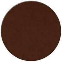 H. Risch Inc. 15 inch Brown Vinyl Round Placemat