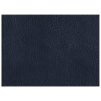 H. Risch, Inc. 11 inch x 15 inch Navy Hardboard / Faux Leather Rectangle Placemat