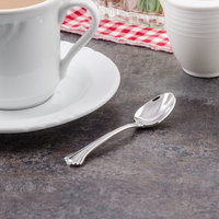 Walco 9529 Sentry 4 3/8 inch 18/10 Stainless Steel Extra Heavy Weight Demitasse Spoon - 24/Case