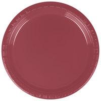 Creative Converting 28312211 7 inch Burgundy Plastic Plate - 240/Case