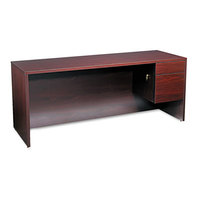 HON 10545RNN 10500 Series 72 inch x 24 inch x 29 1/2 inch Mahogany L or U Right 3/4 Height Pedestal Credenza