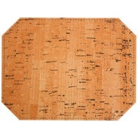 H. Risch Inc. Vino 12 inch x 16 inch Natural Premium Sewn Octagon Placemat
