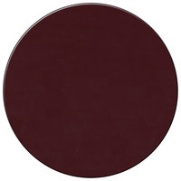 H. Risch Inc. 13 inch Wine Vinyl Round Placemat