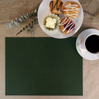 H. Risch, Inc. PLACEMATDX-TAMGREEN Tamarac 16 inch x 12 inch Customizable Green Premium Sewn Faux Leather Rectangle Placemat
