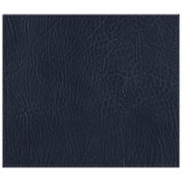 H. Risch, Inc. 13 inch x 15 inch Navy Hardboard / Faux Leather Rectangle Placemat