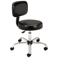 HON MTS11EA11 Black Medical Exam Stool with Back