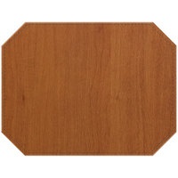 H. Risch, Inc. Sherwood 12 inch x 16 inch Customizable Maple Premium Sewn Octagon Placemat