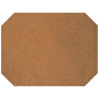 H. Risch Inc. Sedona Distressed 12 inch x 16 inch English Tan Premium Sewn Octagon Placemat
