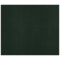 H. Risch, Inc. 13 inch x 15 inch Green Hardboard / Faux Leather Rectangle Placemat