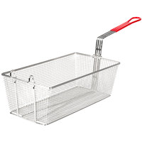 Avantco FB1796 17 1/2 inch x 9 1/8 inch x 6 inch Twin Fryer Basket with Front Hook